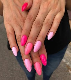 Trendy Pink Gel Nail Colors For American Girls - Reny styles - pretty nails - Pink Gel Nails, Summer Gel Nails, Gel Nail Colors, Best Acrylic Nails, Pastel Pink Nails, Cute Nail Colors, Zebra Nails, Spring Nails, Stylish Nails