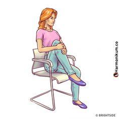 6 gyakorlatot a lapos hasért, amit elvégezhetsz egy széken - Emberi Szavak