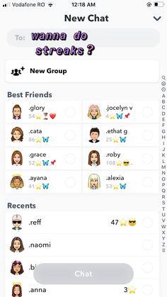 Snapchat Names List, Snapchat Best Friends, Snapchat Ideas, Snap Friends, Friends List, Bored At School, Snap Streak, Snap Filters, Name List