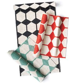Brita Sweeden's Anna woven plastic rug - what a great idea for super durable kitchen rugs!