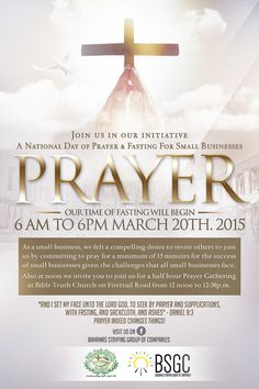 A National Day of Prayer & Fasting for Small Businesses