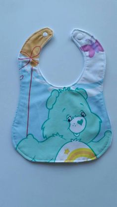 Check out this item in my Etsy shop https://www.etsy.com/au/listing/540595422/care-bears-baby-bib-cotton-upper-plain