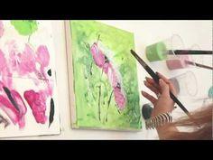 Acrylmalen Tutorial & Verlosung des Originals! Florales Motiv zur Ausgabe Malen mit Isabelle - YouTube