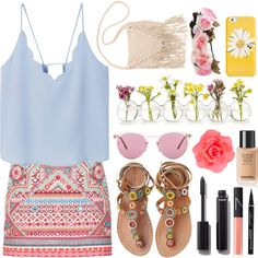 Summer? by grassgrvsk on Polyvore featuring MANGO, Accessorize, Laidback London…