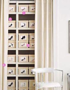 Closet Organiztion Tips - Shoe Closet - Click Pic for 36 DIY Closet Organizer Ideas