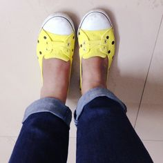 Recycled my old shoes into bright new ones   The Bangalore Snob