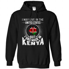 I May Live in the United States But I Was Made in Kenya - #homemade gift #gift exchange. WANT IT => https://www.sunfrog.com/States/I-May-Live-in-the-United-States-But-I-Was-Made-in-Kenya-V5-chqcswkrqr-Black-Hoodie.html?68278