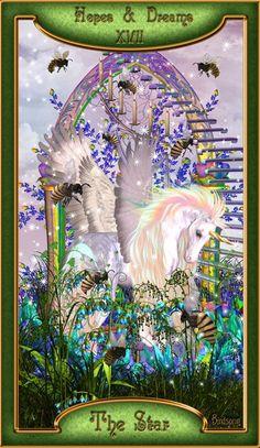 XVII - L'étoile - Midnight Soul Tarot par Liz Birdsong