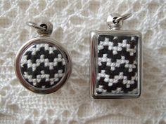 cross stitch pendants