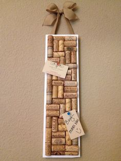 Wine cork board by AshleyColeDesigns on Etsy