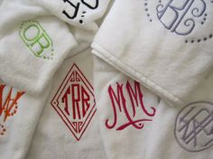 Julia B: Custom Linens, Hand Embroidered Linens, Monogrammed Luxury Linens Embroidery Monogram, Embroidery Applique, Machine Embroidery, Embroidery Designs, Monogram Towels, Personalized Towels, Monogrammed Napkins, Monogram Styles, Monogram Fonts
