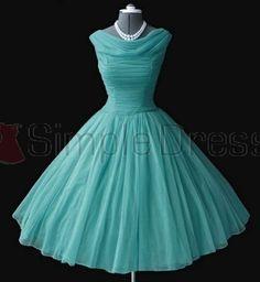 Simple Dress Short Prom Dresses 2015, Vintage Dresses, A-line Chiffon Dresses, 2015 Chiffon Prom Dresses  CHPD-7045