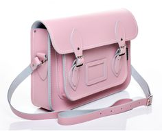"Pastel Baby Pink Leather Satchel | Satchels | Zatchels (17.5"" will fit my laptop + work!!)"