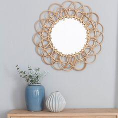 Espejos vintage redondos con forma de flor espejos for Kenay home espejos