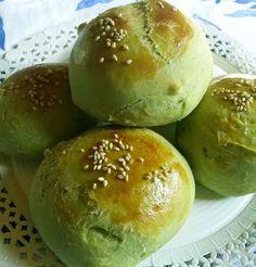 green tea buns