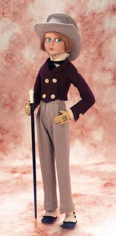 In a Perfect World: 102 Italian Felt Character Gentleman with Walking Cane by Lenci