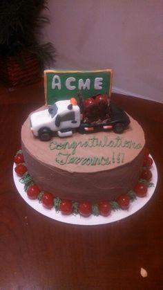 Hot-shot truck cake...edible truck!!