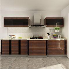 kitchen cabinets, PVC, wood grain, OP14-PVC02