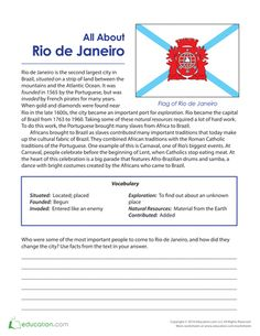 2016 Summer Olympics Worksheets - Social Studies Practice for Kids