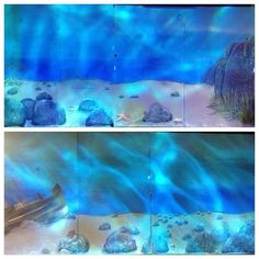 Little mermaid set ~ under water set set off with water lights... Without the water lights it's beach above water.