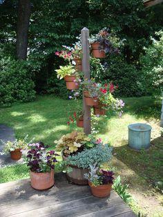 Garden Pole in a Whisky Barrel