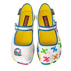 Hot Chocolate Design Chocolaticas Jax Womens Mary Jane Flat Multicoloured US Size 9 * Continue to the product at the image link.