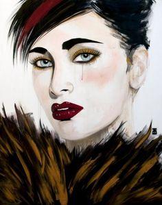 blushing behind feathers, Emma Sheldrake