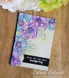 Hi everyone, it's Esther and I'm back for an extra day this week. Today I've got a watercolour birthday card to show you using Altenew B...