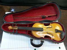 Salesman sample miniature violin with case.