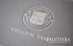 less is more: clean and classy letterpress thank you cards