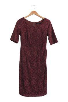 June Dress in Burgundy   ROOLEE