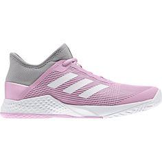 online store dd0b9 10beb Adidas Women s Adizero Club Tennis Shoes (Light Granite True Pink) - Do It