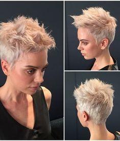 HOW-TO: Pearly Pixie Perfection – Haare schneiden – moderner Salon – Lange Haare – Frisuren Neue Frisuren und Haarfarben Latest Short Hairstyles, Short Pixie Haircuts, Pixie Hairstyles, Ladies Hairstyles, Pixie Haircut Fine Hair, Bridal Hairstyles, Trendy Hairstyles, Short Hair Cuts For Women, Short Hair Styles
