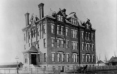 Columbus, Ohio.  1889.  Hawkes Hospital of Mt. Carmel opened July 16, 1886.