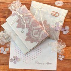 #Brauttasche und #Ringkissen mit Vintage-Spitze von Festtagsstimmung