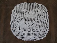 Filet crochet pattern under pic