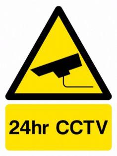 24 Hour CCTV sign