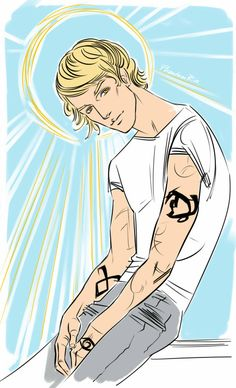 "Jace(""the Mortal Instruments"" by Cassandra Clare)1st version of the picture"