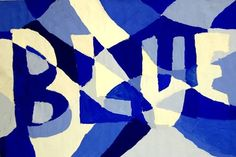 """From exhibit """"Hidden Color Word in Tints and Shades"""" by Gabby1089 from Lexington Junior High School— grade 7 #blue"""