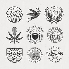 March has been a pretty busy month 🌿 Looking to schedule in some new projects now though! Tattoo Drawings, Art Drawings, Retro Logos, Vintage Logos, Vintage Logo Design, 2 Logo, Badge Design, Art Plastique, Graphic Design Inspiration