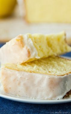 Lemon Pound Cake with Vanilla Bean Glaze Recipe | Life Made Simple