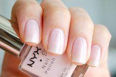 NYX Girls - Drops of Dew #nailpolish Clear Nail Polish, Pink Nail Polish, Clear Nails, Nude Color, Colour, Nudes, Nyx, Nail Colors, Swatch