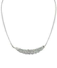 Silver Diamond Wound Necklace 6.26