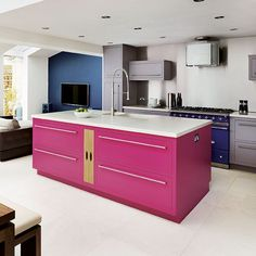 Open-plan kitchen   Painted kitchens - 10 of the best   Kitchen decorating   housetohome.co.uk