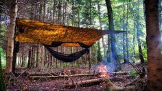 becomingwildman : I'll be hanging bug free tonight.  #bushcraft #outdoor #adventure #survival #wild #woods #woodsman #menofoutdoors #wildman #aquaquest @aquaquestwaterproof #ddhammocks #camping #ourcamplife