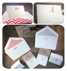 Brand new custom engraved San Francisco Stationery by Union Street Papery!