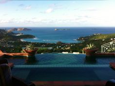 We're daydreaming about St. Barts. Overlooking Baie de Saint-Jean, this villa has one of the best views on the island.