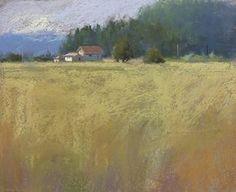 Gold Fields by Jane McGraw-Teubner Pastel ~ 8 x 12