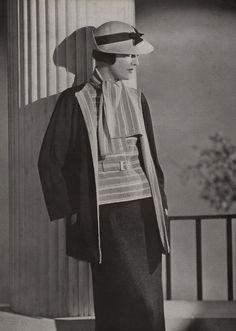 Vintage Knitting Pattern PDF of Minerva's Waldorf Three Piece Boucle Suit, c. 1934
