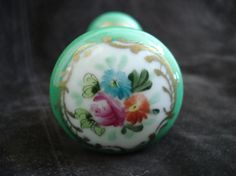 Vintage Antique French  Floral Doorknobs